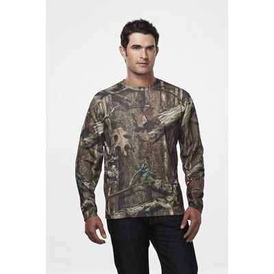 Tri-Mountain® Sportsman Force Camo 100% Polyester Mesh Long Sleeve Shirt