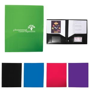 2-Pocket Folder w/Business Card Slots