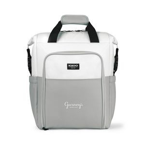 White/Gray Igloo® Seadrift™ Switch Backpack Cooler